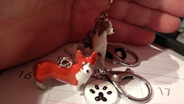 подарок собачнику вельш корги джек рассел 3D брелок фигурка собаки