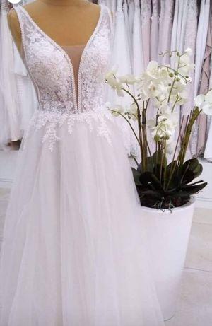 Suknia model 1272 Salon Angela brokatowa