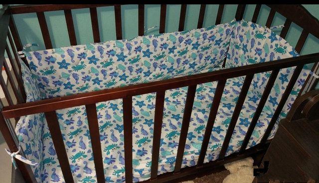 Детская кроватка Rapido,матрас,постел.белье,балдахин,развив.коврик.