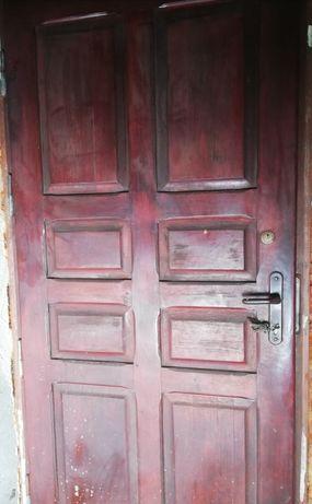 Drzwi wejściowe zewnętrzne z ościżnicą, ocieplone