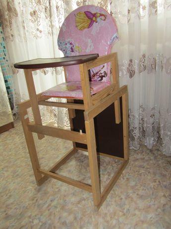 Деревянный стульчик трансформер для кормления Наталка