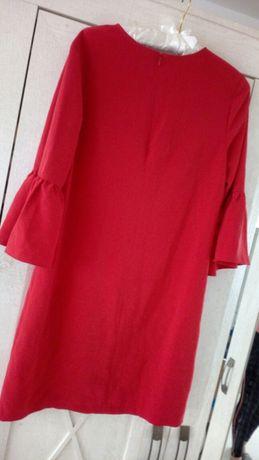 Sukienka modna czerwona mohito rękawy modne