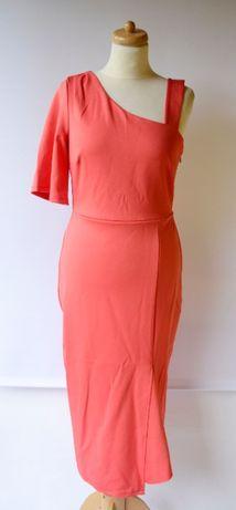 Sukienka Pomarańczowa V by Very XL NOWA Rozporek Zara H&M Mango