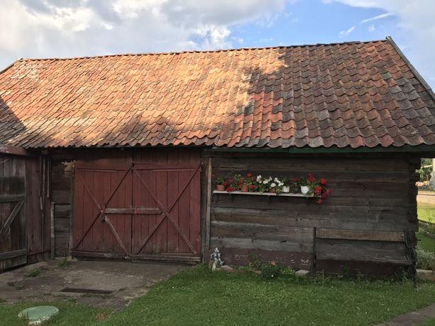 Stara stodoła z bala