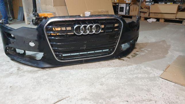Бампер с решеткой Ауди а6 ц7 (Audi a6 c7) дорестайл