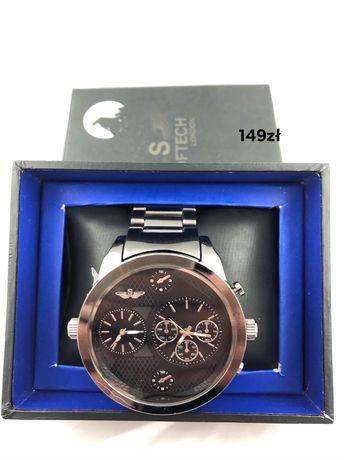 Czarny zegarek Softech