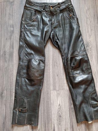 Spodnie skórzane motocyklowe vintage  szwedzkiej marki Halvarssons
