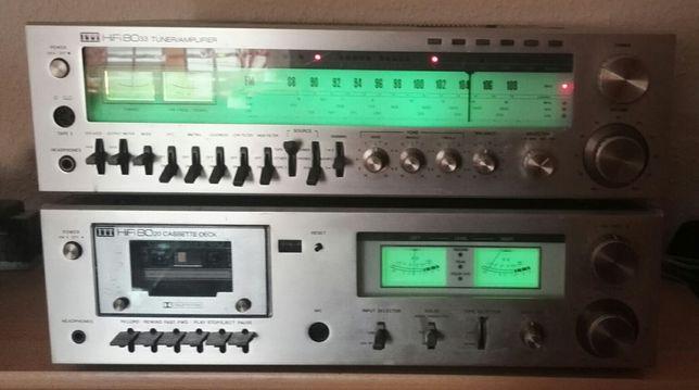 ITT amplituner+deck+gramofon
