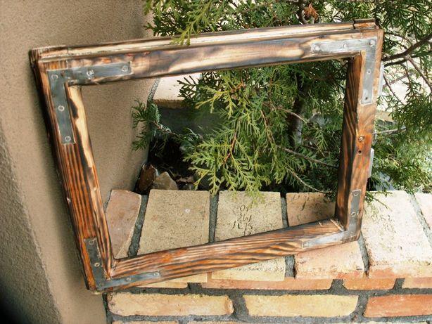 Stare okno , rama okienna retro loft lustro, zdjęcia 40x47