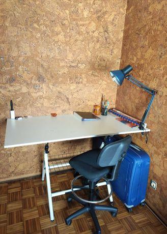 Estirador+candeeiro+cadeira