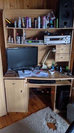 Zestaw mebli do pokoju biurko szafa komoda biblioteka łóżko