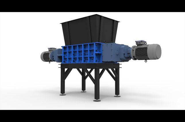 Rozdrabniacz shredder 5% RABAT ! dwu-wałowy RF-420/1200/2×30 kW!