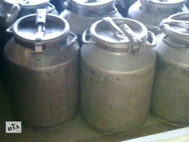 Продам алюминиевые бидоны 40 л б/у