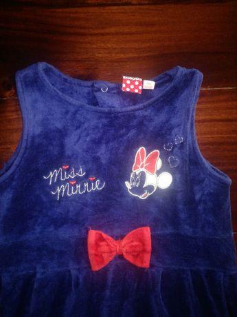 sukienka welurowa Minie Mouse r. 110/116
