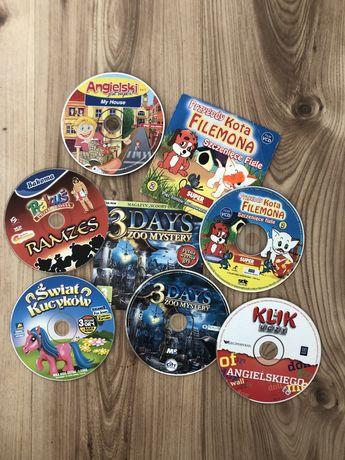Zestaw gier/filmów animowanych dla dziecka