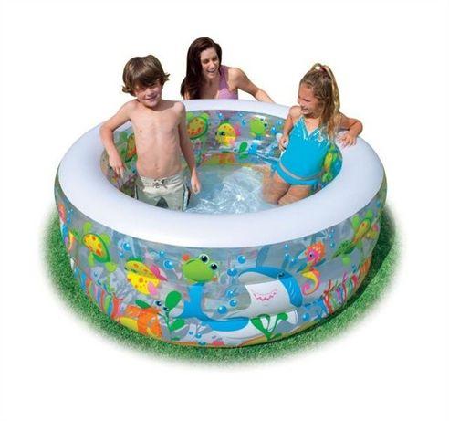 Детский надувной бассейн Intex 58480 Аквариум 152х56см