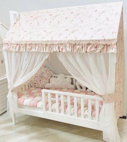 Домик кровать (пошив крыши и шторок)