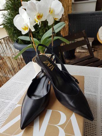 Skórzane buty damskie Zara 37