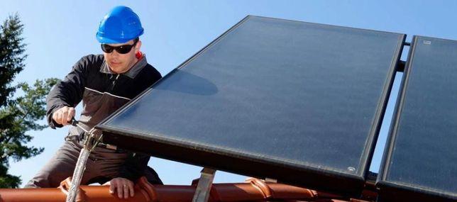 Serwis kolektorów słonecznych/ instalacji solarnych/ wymiana glikolu