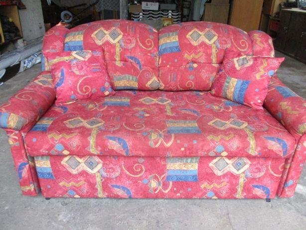 sofa rozkladana- czerwona