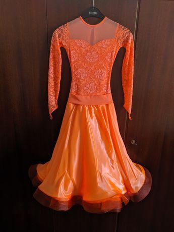 Платье для бальных танцев стандарт на 10-11лет р.140-150