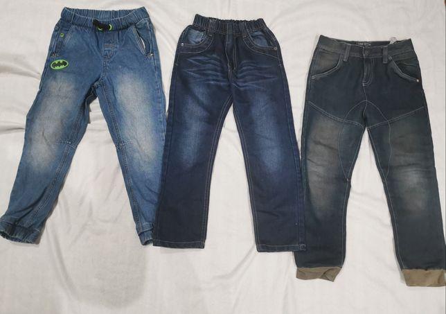 Dżinsy nowe i używ,spodnie dziecięce rozmiar 128 - 134,Smyk, Terranova