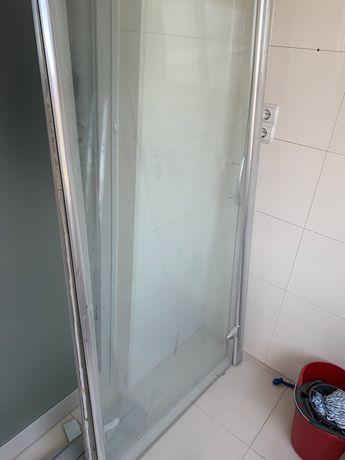 Vidro Base Duche -Vidro fixo e Porta