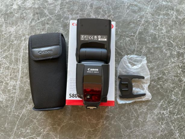 Canon Speedlite 580EX II jak nowa + Gratisy / 1 właściciel karton kpl