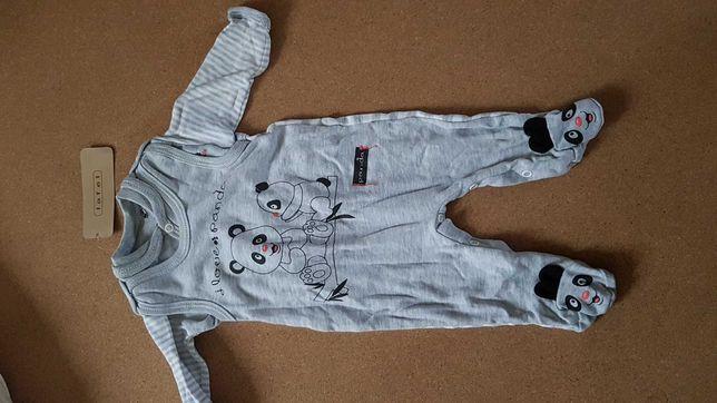 Śpiochy i koszulka niemowlęca Panda Lafel