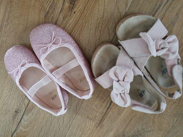 Balerinki sandałki hm h&m 22 sandały  baleriny
