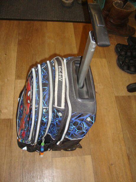 школьный рюкзак трансформер на колёсах Kalgav Spiderman