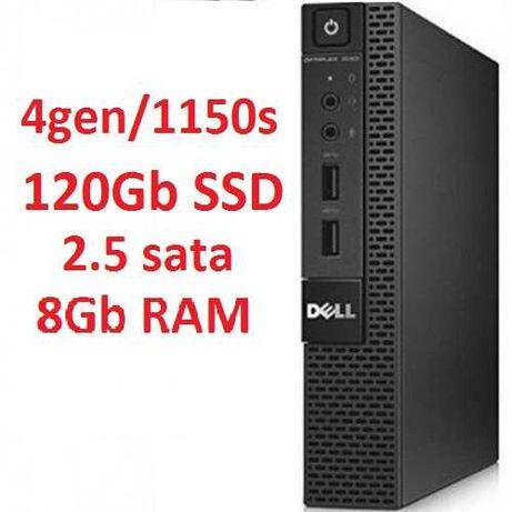 Мини компьютер ПК Dell 3020M USFF i5 4gen 8Gb ОЗУ RAM, SSD 120Gb