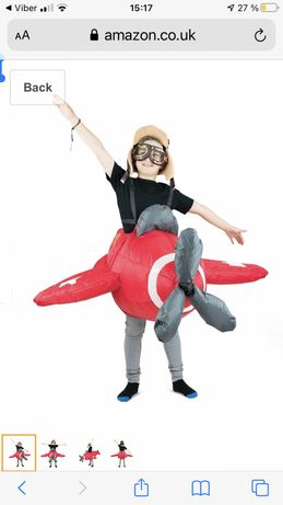 Детский надувной самолет Bodysocks® Inflatable Airplane Costume (Kids)