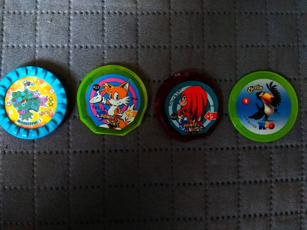Kapsle Tazo Rio, Pokemon Roks, Sonic X NOX Cheetos
