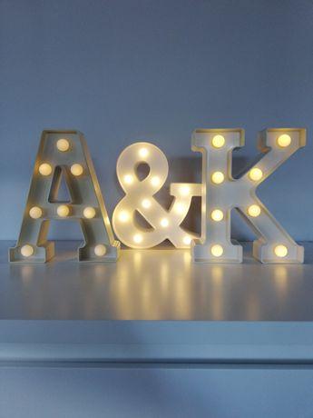 Litery LED, A K Q