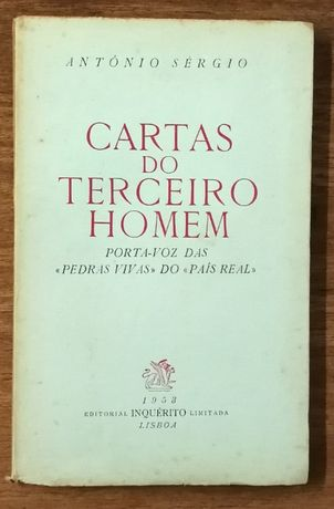cartas do terceiro homem, antónio sérgio, 1953, 1 volume