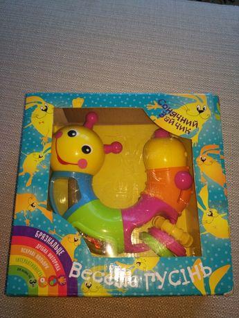 Детская игрушка Веселая гусеница.Іграшка Забавна гусениця.