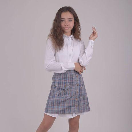 Школьный костюм форма платье рубашка юбка