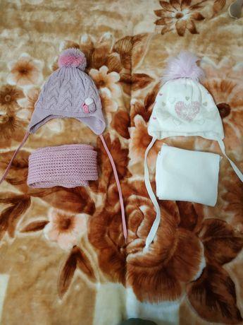 Наборы зима (шапкам шарф) для девочки Возраст 3-4 года
