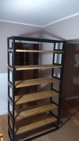 Nowoczesny regał loftowy półka na książki meble na zamowienie