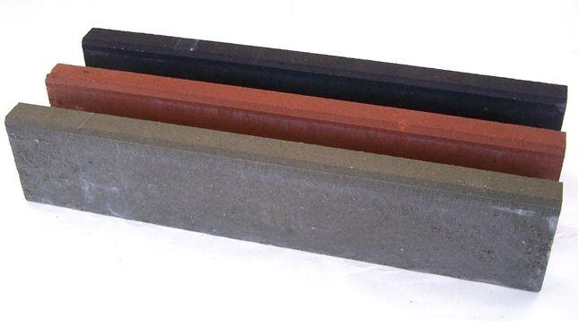 OBRZEŻE chodnikowe betonowe 6x20x100 cm czerwone   grafitowe   brązowe
