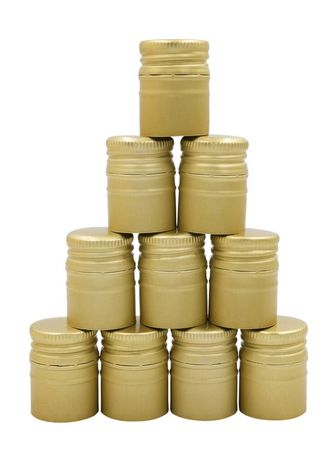 Zakrętka metalowa na alkohol bimber nalewki nakrętki 30/44 złote