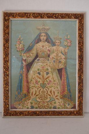 Gravura Nossa Senhora dos Remédios - Portugal , final do século XIX