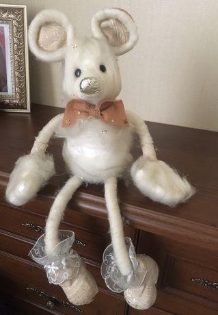 Игрушка мышь декоративная