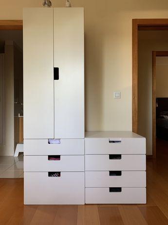 IKEA Stuva Roupeiro e cómoda brancos