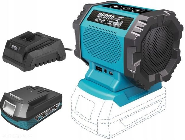 GŁOŚNIK Bluetooth AKUMULATOROWY 18V DEDRA + 2Ah