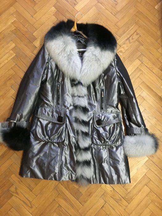 Новая женская куртка-плащ с песцом и кроликовой подстежкой Киев - изображение 1