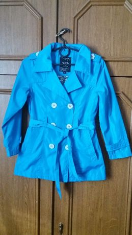 Плащ, демисезонная куртка, ветровка плащик для девочки 134