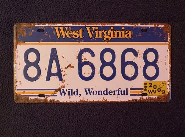 WEST VIRGINIA | Placa Matricula Decoração
