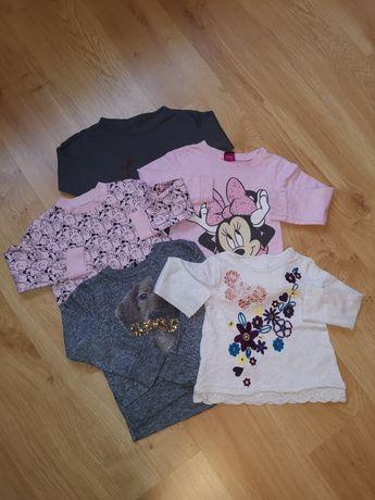 Paczka ciuszków dziewczęcych bluzy Disney Sinsay 98-104